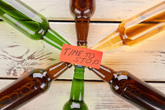 Time to tie up with alcohol. royalty free stock photo