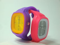 Time to time. Two watches together royalty free stock photography