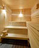 From time to time it is very useful  to warm up in the sauna Royalty Free Stock Photography