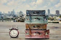 Time to travel at Bangkok city Royalty Free Stock Photos