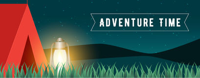 Time to travel banner vector Royalty Free Stock Photography