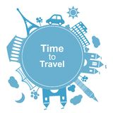 Time to travel, concept stock illustration