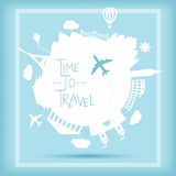 Time to travel concept royalty free illustration