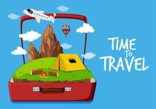 Time to travel icon. Illustration royalty free illustration
