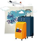 Time to travel icon. Illustration vector illustration