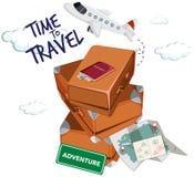 Time to travel icon. Illustration stock illustration