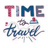 Time To Travel Lettering Royalty Free Stock Photo