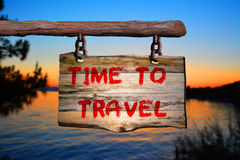 Time to Travel sign