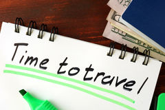 Time to travel sign Royalty Free Stock Photo
