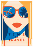 Time to Travel and Summer Camp poster. Royalty Free Stock Images
