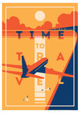 Time to Travel and Summer Holiday poster. royalty free illustration