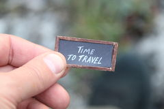 Time to travel tag Royalty Free Stock Photos