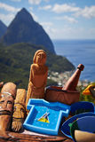Time to travel to St. Lucia Royalty Free Stock Photography