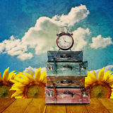 Time to travel in vintage style Royalty Free Stock Images