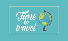 Time to travel on the world. Vector art stock illustration