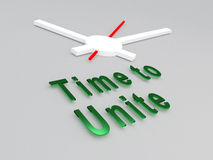 Time to Unite concept Royalty Free Stock Photos