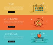 Time to Upgrade your Skills. Vector banners set Stock Photos