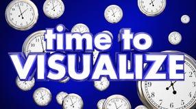 Time to Visualize Clocks Imagination Think Plan stock illustration