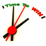 Time to win. Clock ticking towards right time to win, winning and competition concept Royalty Free Stock Photography