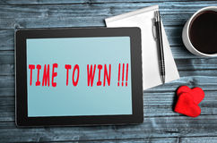 Time to win text Royalty Free Stock Images