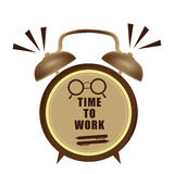 Time to work clock Royalty Free Stock Images