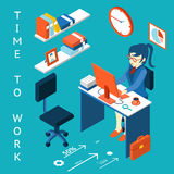 Time to work concept. Business corporate process Royalty Free Stock Image