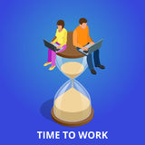 Time to work or Time management project plan schedule. Royalty Free Stock Image