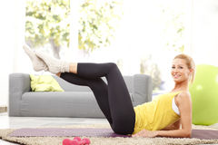 Time to workout at home Stock Photos