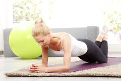Time to workout at home Stock Image