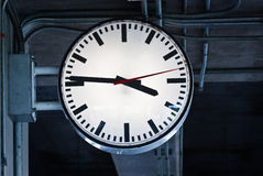 Time in train station Stock Image