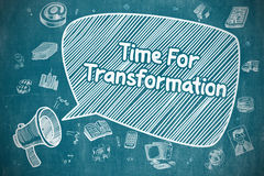Time For Transformation - Business Concept. Stock Images