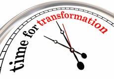 Time for Transformation Evolution Change Clock. 3d Illustration Royalty Free Stock Images