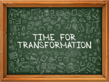 Time for Transformation - Hand Drawn on Green Chalkboard. Royalty Free Stock Images