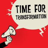Time for Transformation. Megaphone Hand business concept with text Time for Transformation, vector illustration vector illustration