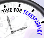Time For Transparency Message Showing Ethics And Fairness royalty free illustration