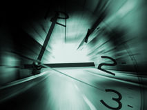 Time travel background. With clock Stock Image