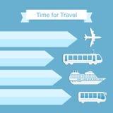 Time for travel concept stock illustration