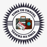 Time travel equipment vacation stamp Royalty Free Stock Images
