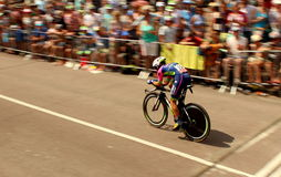 Time trial cyclist Stock Photography