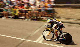 Time trial cyclist Royalty Free Stock Images