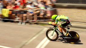 Time trial cyclist Stock Photo