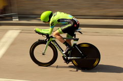Time trial cyclist Stock Images