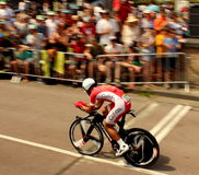 Time trial cyclist Royalty Free Stock Photo