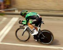 Time trial cyclist Stock Photos