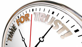 Time for Trust Faith Belief Reputation Clock Stock Image