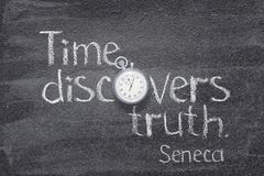 Time truth Seneca royalty free stock images