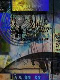 Time Tunnel. Abstract composition. Time vortex and ancient scripts Royalty Free Stock Photos