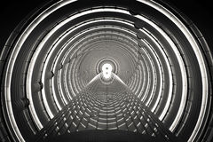Time Tunnel. Who knows you can find a Time Tunnel inside the world's highest altitude lobby Stock Image