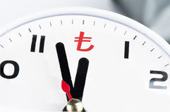 Time is Turkish Lira Royalty Free Stock Photography