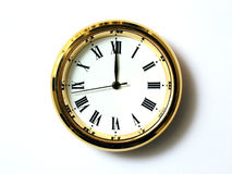 Time Twelve. Timepiece time twelve Royalty Free Stock Image